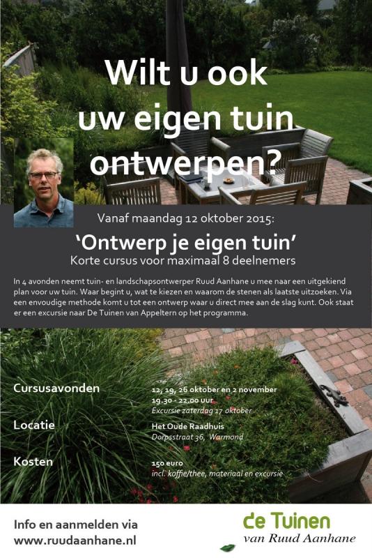 Cursus ontwerp je eigen tuin de tuinen van ruud aanhane for Ontwerp je eigen kantoor